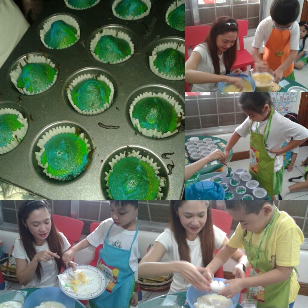 Learning about the planet Earth by making Earth cupcakes